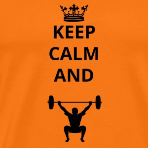 gifts keep calm and cross fitness png - Men's Premium T-Shirt