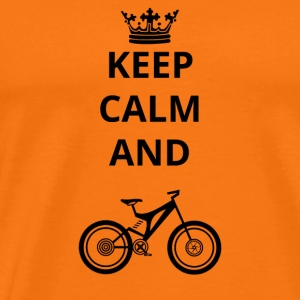 gift keep calm and mountain bike cycle png - Men's Premium T-Shirt