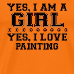 yes gift on a girl love bday gift PAINTING - Men's Premium T-Shirt