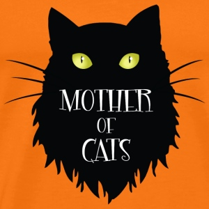 Mother Of Cats. Förtjusande svart katt för Halloween - Premium-T-shirt herr