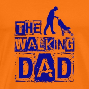 Den walking far - blå - Herre premium T-shirt