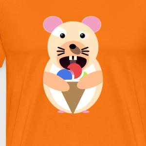 Icecream hamster - Premium T-skjorte for menn