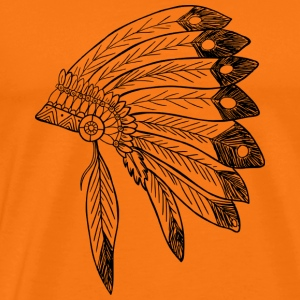 Indian headdress - Men's Premium T-Shirt