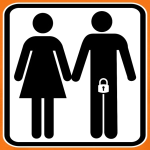 Locked man with wife