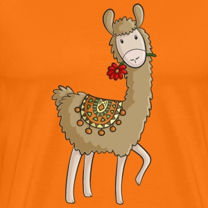 Lama comic alpaca - Men's Premium T-Shirt