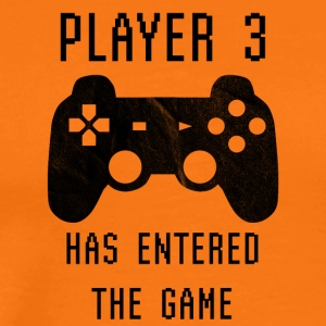 Player 3 has entered the game - Geburt Schwanger - Männer Premium T-Shirt