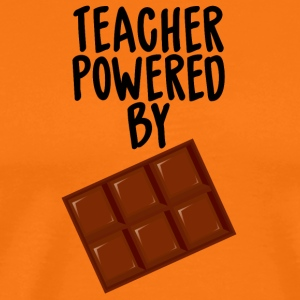 Lärare / School: Lärare Powered By Chocolate - Premium-T-shirt herr