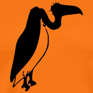 Seated ugly vulture (mascot) - Men's Premium T-Shirt
