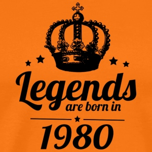 Legends 1980 - Premium-T-shirt herr