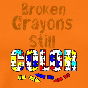 Broken crayons still color - Männer Premium T-Shirt