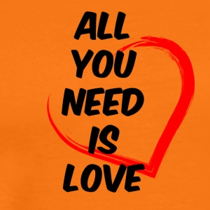 All you need is love black - Men's Premium T-Shirt