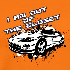 I am out of the closet with my cabriolet - Men's Premium T-Shirt