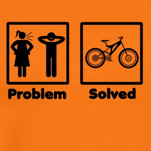 problem løst mountainbike cyklus - Herre premium T-shirt