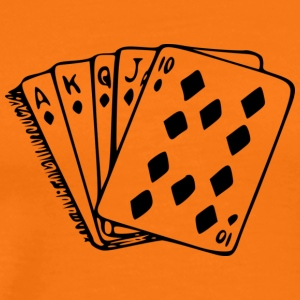 royal flush - Premium-T-shirt herr
