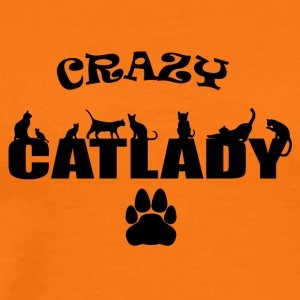 CRAZY Catlady black - Men's Premium T-Shirt