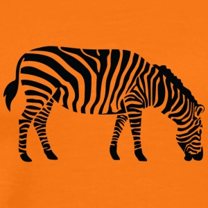 En Zebra Eating - Premium T-skjorte for menn