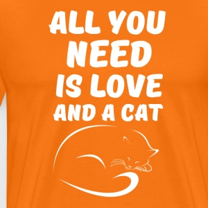 All you need is Love and a Cat - Männer Premium T-Shirt