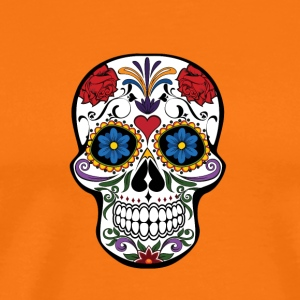 Skull and roses - Männer Premium T-Shirt