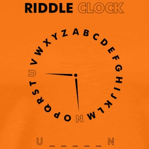 Riddle Clock Unicorn - Männer Premium T-Shirt