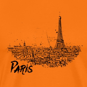 Paris - City - Cityscape Sketch with Eiffel Tower