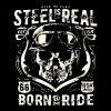Avez-No Fear Is Real Steel Born to Ride is 68 - T-shirt Premium Homme
