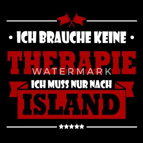 Lustig Therapie Island Spruch Urlaub Tourist Reise Manner Premium T