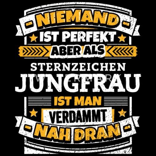 Lustiger Sternzeichen Jungfrau Spruch Manner Premium T Shirt