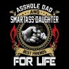 Asshole Dad and smartass Daughter best friends - Men's Premium T-Shirt