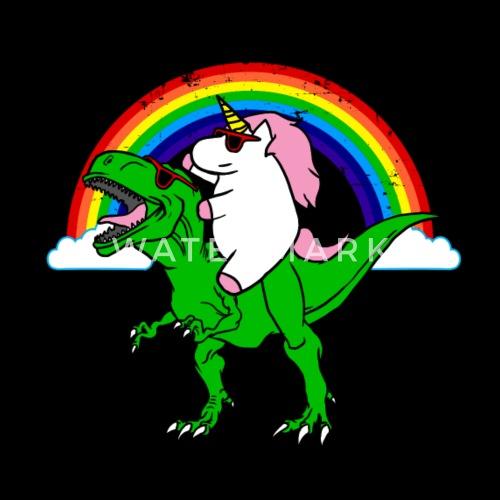 Unicorn and dinosaur by EBENBLATT   Spreadshirt