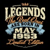 Real legends are born in may 1953 - Men's Premium T-Shirt