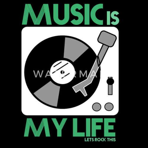Music Is My Life Männer Premium T Shirt Spreadshirt