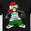 Penguin Cool zonnebril en pet kinderen - Mannen Premium T-shirt