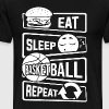 Eat Sleep Basketball Repeat - B-Ball Ball Sports - Men's Premium T-Shirt