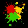 Reggae colors Africa Roots flag color splashes - Men's Premium T-Shirt