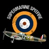 Retro Design Supermarine Spitfire Warbird Airplane - Men's Premium T-Shirt