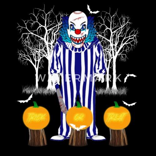 ... Halloween läskig clown - Premium T-shirt herr svart. Vill du anpassa  motivet  371f0bd3704ff