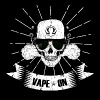 Vaping skull head vape on - steamer steamer motif - Men's Premium T-Shirt