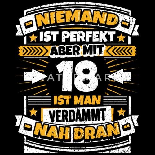 Lustiger Spruch 18. Geburtstag Männer Premium T-Shirt ...