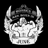 Bosses are born in June - Men's Premium T-Shirt