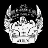 Bosses are born in July - Men's Premium T-Shirt