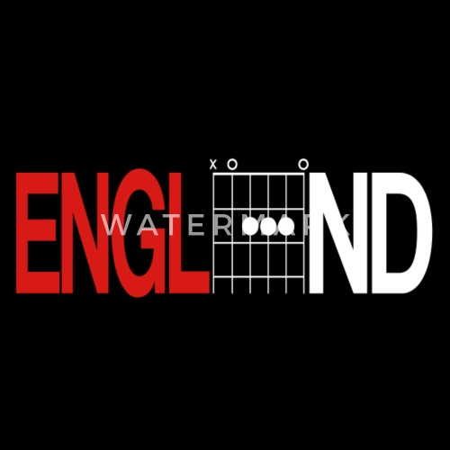 England Red and White Shirt in Guitar Chords by Daddy Star | Spreadshirt