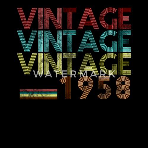 Uitzonderlijk Vintage 1958 60 jaar verjaardag cadeau verjaardag van Swayshirt @YD45