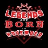 Legends november født bursdagsgave Plaid - Premium T-skjorte for menn