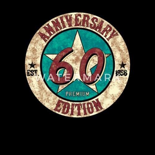 60th Birthday Gift 1958 Vintage Anniversary Mens Premium T Shirt