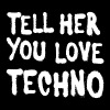 Tell her you love techno II - Men's Premium T-Shirt