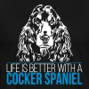 LIFE IS BETTER WITH A COCKER - Men's Premium T-Shirt