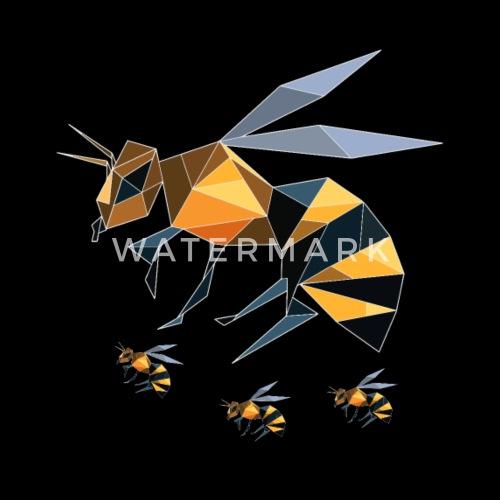 Origami Biene Wespe Hummel Insekt Kristall Männer Premium T Shirt