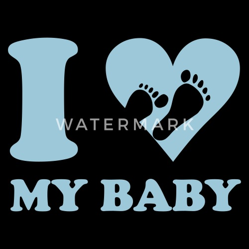 I Love My Baby Mannen Premium T Shirt Spreadshirt