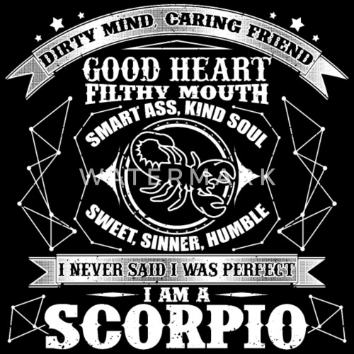 Star Sign Birthday Gift Scorpio By Awesome Teesign