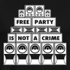 FREE PARTY IS NOT A CRIME SOUND SYSTEM - Men's Premium T-Shirt